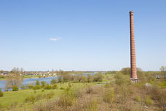 Chimney of ancient brick factory Stock Photography