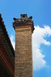 Chimney ancient Gyeongbok Palace in South Korea. Royalty Free Stock Images