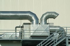 Free Chimney And Pipes In Plant Stock Image - 1880081