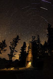 Chimney Beach Star Trails, Lake Tahoe, Nevada Royalty Free Stock Photos