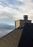 Chimney behind Roof Royalty Free Stock Photos