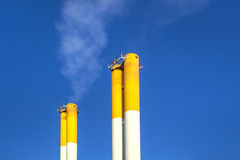 Chimney with  blue sky Royalty Free Stock Image