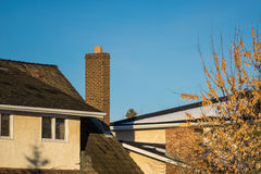 Chimney and blue sky Stock Images