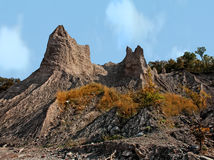 Chimney Bluffs Stock Photos