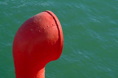 Chimney of boat. Colorful Chimney of boat detail Stock Photo