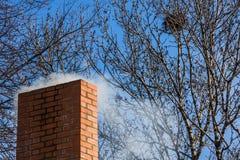 Chimney of brick Stock Photo