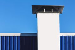 Chimney on building rooftop Royalty Free Stock Photo