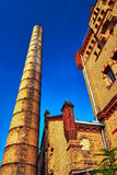 Chimney and buildings of the old slaughterhouse Royalty Free Stock Photo