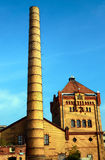 Chimney and buildings of the old slaughterhouse Royalty Free Stock Images