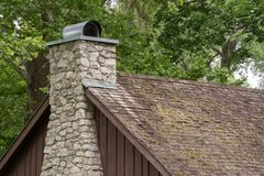 Chimney on a Cabin royalty free stock images