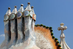 Chimney on casa Batilo Stock Images