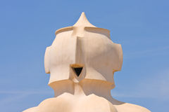 Chimney of Casa Mila Barcelona Royalty Free Stock Images