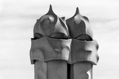 Chimney of Casa Mila in Barcelona Royalty Free Stock Photo