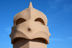 Chimney of Casa Mila in Barcelona Royalty Free Stock Photography