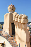 Chimney at Casa Mila Roof Royalty Free Stock Images