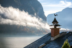 Chimney, Chicken and Fog - Hallstatt, Austria Stock Image