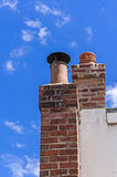 Chimney ,clear blue sky,clean environment. Anti pollution concept Royalty Free Stock Photography