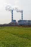 Chimney of coal power plant Royalty Free Stock Image