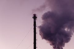 Chimney. Contamination, pollution causing global Stock Photo