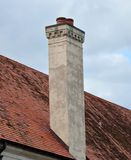 Chimney with Dentil Trim and Caps Royalty Free Stock Photo