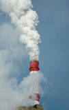 Chimney at the energy station Royalty Free Stock Images
