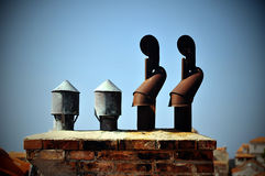 Chimney exhaust Royalty Free Stock Images