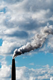 Chimney exhaust waste amount of CO2 Stock Photography