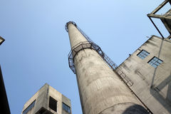 Chimney In Factory Royalty Free Stock Images