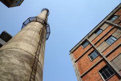 Chimney In Factory Royalty Free Stock Image