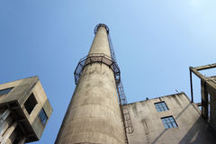 Chimney In Factory Stock Photo