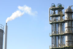 Chimney of factory. Chimney of french factory Royalty Free Stock Photography