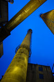 Chimney In Factory Stock Photography