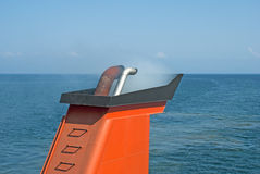 Chimney of ferry boat in Greece Royalty Free Stock Photos