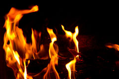 Chimney fire Royalty Free Stock Photography