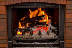 Chimney fire Stock Photography