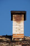 Chimney. Fixed an old chimney on the roof of the old royalty free stock photography