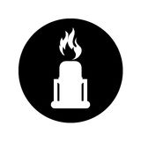 Chimney with flame isolated icon. Vector illustration design Royalty Free Stock Photography