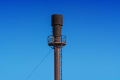 Chimney for flaring. Chimney for controlled burning off of excess gas Royalty Free Stock Photos