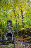 Chimney in the forest Stock Image
