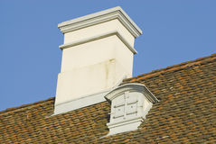 Chimney and gabled window Royalty Free Stock Image