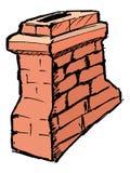 Chimney. Hand drawn, , sketch illustration of chimney Royalty Free Stock Images