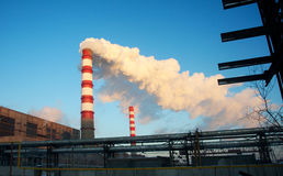 Chimney heating station Royalty Free Stock Image