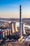 Chimney of heavy industry factory in Beijing Stock Image