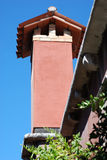 Chimney on a house roof in Venice. Stock Photo