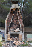 Chimney. Chimney of a house in ruins royalty free stock image