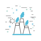 Chimney image illustration. Icon design vector graphic Stock Images