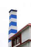 Chimney in an industrial enterprise Royalty Free Stock Image