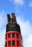 Chimney ob cruise liner. Stock Photography