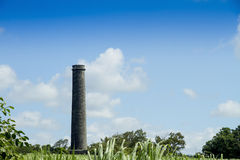 Chimney of old sugar mill Stock Photos