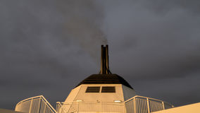 Chimney of a passenger ship Stock Images